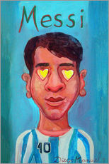 Gallery print  Messi and heart - Diego Manuel Rodriguez