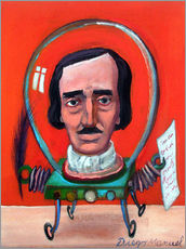 Wall sticker edgard allan poe robot