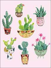 Gallery Print  funny succulents - Janet Broxon