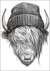 Wall sticker  Bull in a hat - Nikita Korenkov