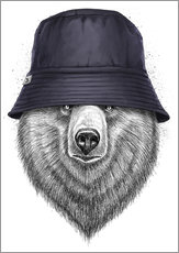 Gallery print  Bear in hat - Nikita Korenkov