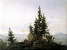 Wall sticker  View into the Elbe valley - Caspar David Friedrich