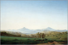 Gallery print  Bohemian landscape with the Milleschauer - Caspar David Friedrich