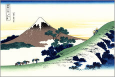 Gallery print  inume pass in the kai province - Katsushika Hokusai