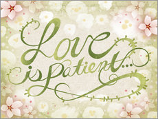 Wall sticker  Love Is Patient - Ashley Verkamp