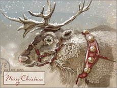 Gallery print  Air Mail Christmas Reindeer - Ashley Verkamp