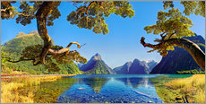 Wall sticker  Look in the Milford Sound New Zealand - Michael Rucker