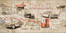 Gallery Print  Route 66 Map - Georg Huber