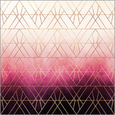 Wall sticker Pink Ombre Triangles
