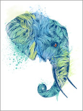 Wall sticker  Elephant Head - Rachel Caldwell