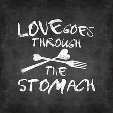Wall sticker Love goes through the stomach