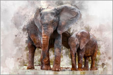 Wall sticker  Elephants - Peter Roder