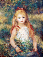 Canvas print  Girl in a garden - Pierre-Auguste Renoir