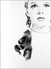 Wall sticker  Judy Garland Portrait - Ileana Hunter