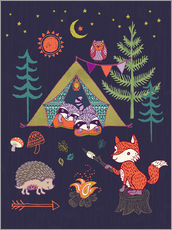 Gallery print  Camping Friends - Janet Broxon