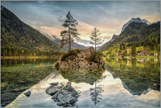 Wall sticker  Hintersee at an evening in spring - Sabine Wagner