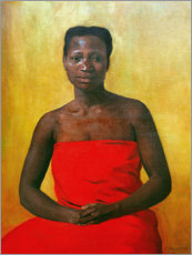 Premium poster Seated woman