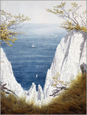 Wall sticker  Chalk cliffs on Rugen island - Caspar David Friedrich