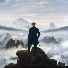 Wall sticker  The Wanderer Above the Sea of Fog - Caspar David Friedrich