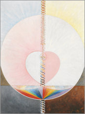 Wood print  The Dove, No. 1 - Hilma af Klint