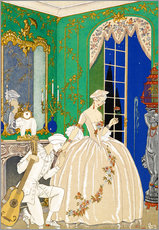 Gallery print  A woman and musician - Georges Barbier