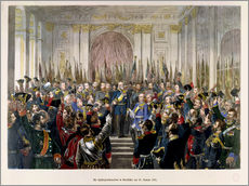 Gallery print  The Proclamation of Wilhelm as Kaiser of the new German Reich - German School