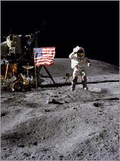 Wall sticker Astronaut of the 10th manned mission Apollo 16 on the moon
