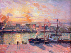 Gallery print  Sunset at Rouen - Camille Pissarro
