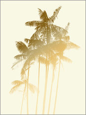 Gallery print  Palm trees design poster - tobacco - Alex Saberi