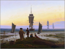 Wood print  Stages of life - Caspar David Friedrich