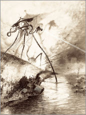 Wall sticker  Martian Fighting Machine in the Thames Valley - Henrique Alvim Correa