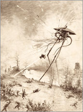 Gallery print  Martian Fighting Machine Hit by Shell - Henrique Alvim Correa