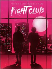 Gallery print  Fight Club movie scene art print - 2ToastDesign