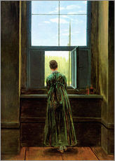 Gallery Print  Woman at the window - Caspar David Friedrich