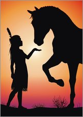 Gallery print  Horse whisperer - Kidz Collection