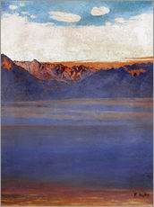 Gallery print  Lake Geneva and Savoy - Ferdinand Hodler