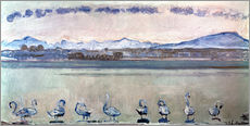 Wall sticker  Lake Geneva with nine swans - Ferdinand Hodler