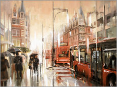 Wall Stickers  Oxford Street in the rain - Johnny Morant