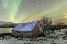 Wall sticker  Aurora Borealis on typical Rorbu, Svensby, Norway - Roberto Sysa Moiola