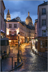 Wall sticker  Street in Montmartre with Basilica of Sacre Coeur, Paris, France - Jan Christopher Becke