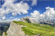Wall sticker  Alps panorama on Seceda with Mount Geisler - Dieter Meyrl