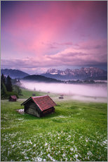 Gallery print  Sunset in the Alps, Germany, Karwendel - Dennis Fischer