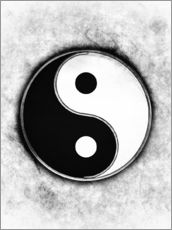 Wall sticker  Yin Yang - Black & White - Dirk Czarnota