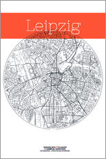 Gallery Print  Leipzig map city map - campus graphics