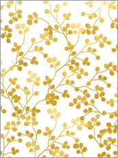 Wall sticker  Golden vines - Uma 83 Oranges