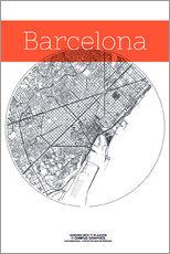 Wall sticker  Barcelona map circle - campus graphics