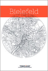 Wall sticker  Bielefeld map circle - campus graphics