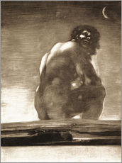 Wall sticker  A Giant Seated in a Landscape, The Colossus - Francisco José de Goya