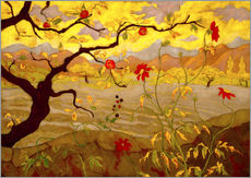 Gallery print  Apple Tree with Red Fruit - Paul Ranson