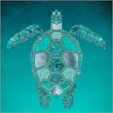 Gallery print  Mermaid  Turtle - Andrea Haase